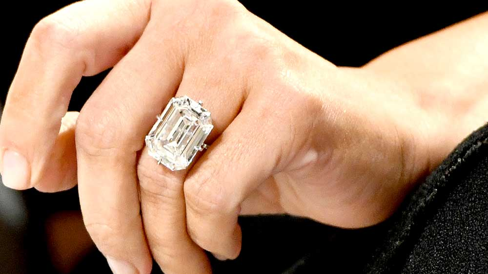 Kim Kardashian D Color Diamond Ring