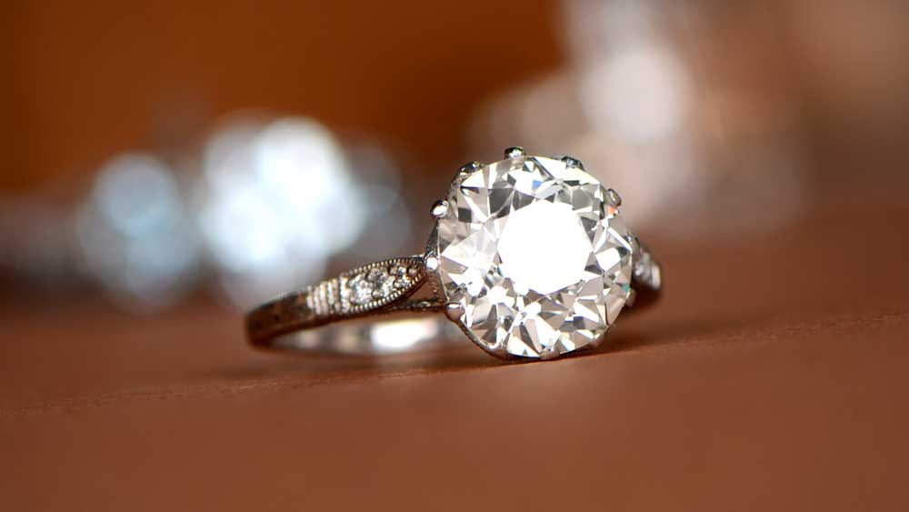 Solitaire Engagement Ring with Engravings