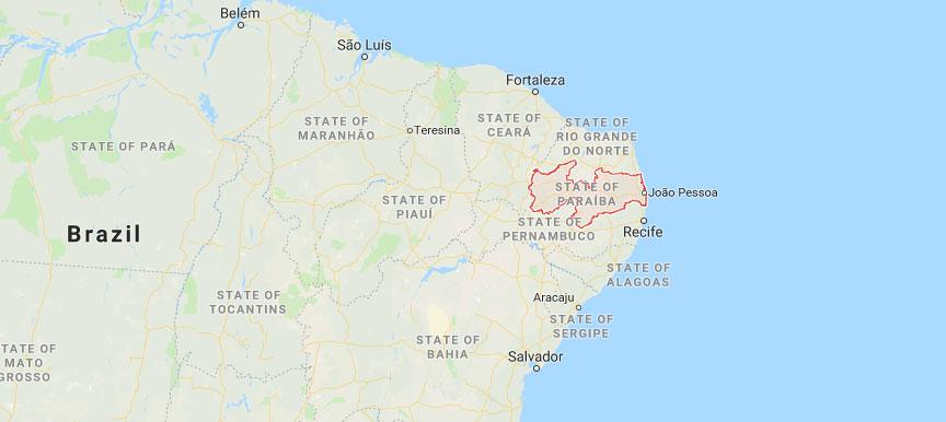 State of Paraíba Brazil