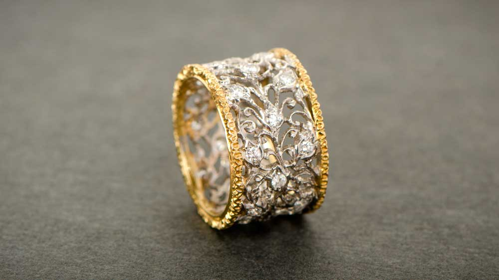 Buccellati Two Tone Wedding Ring