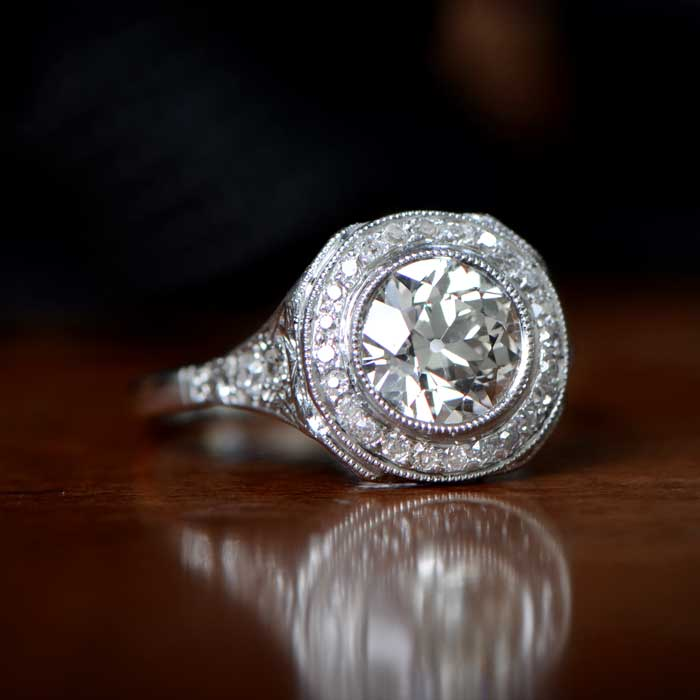 Antique Engagement Ring on Surface