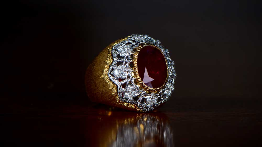 Large Ruby Buccellati Ring
