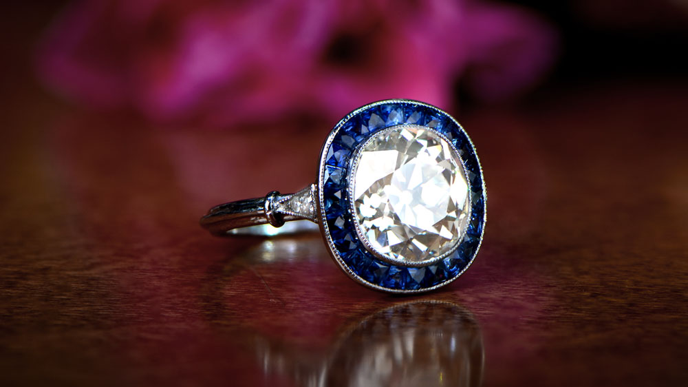 3 Carat Diamond Halo Ring