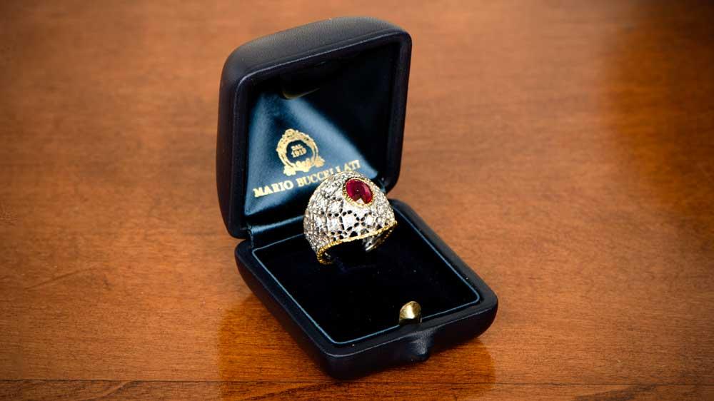 Rare Buccellati Ruby Engagement Ring