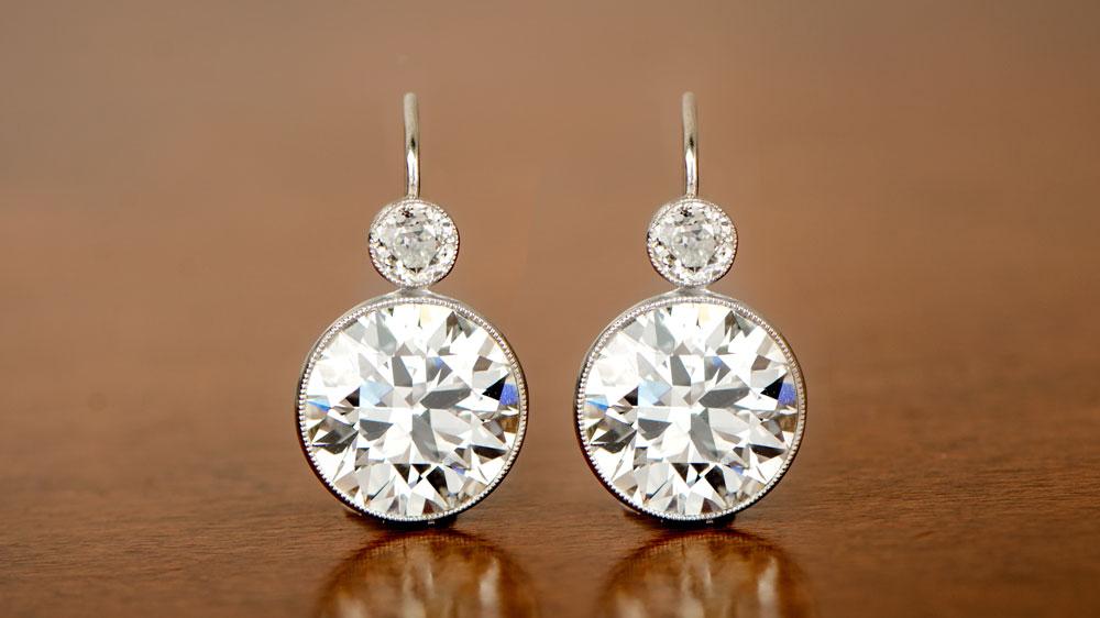 11304 Old European Cut Stud Earrings