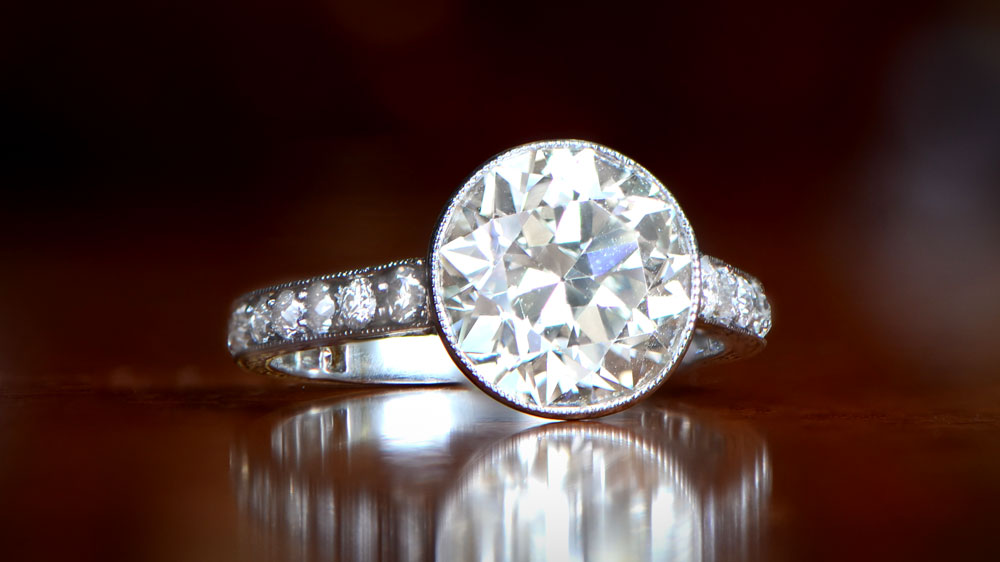 3 Carat Bezel Style Engagement Ring