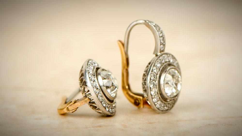 Diamond Earrings Halo 7296