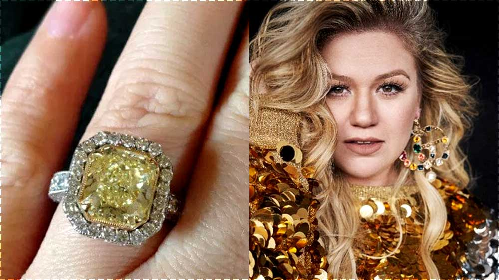 Kelly Clarkson Yellow Diamond Engagement Ring