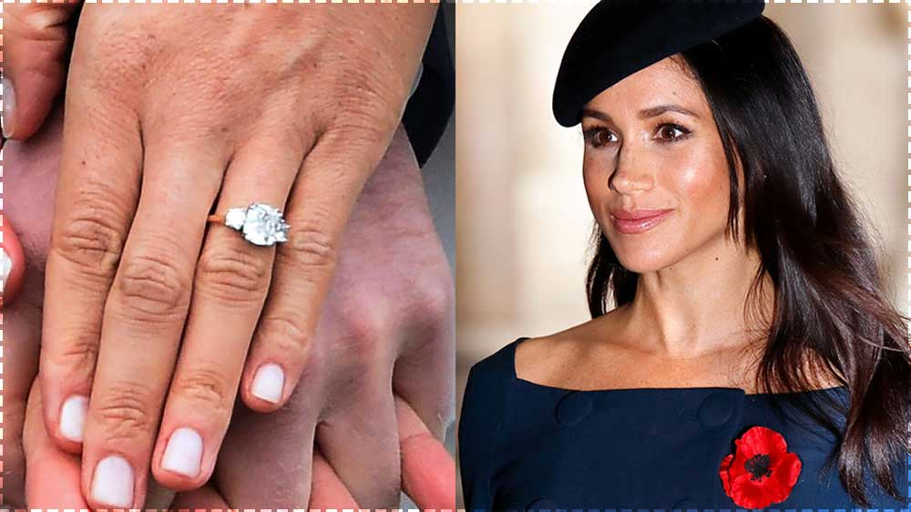 Meghan Markle and Engagement Ring Close Up