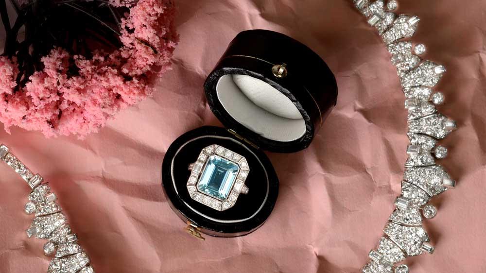 Rare Aqumarine Ring from Media Photo Shoot