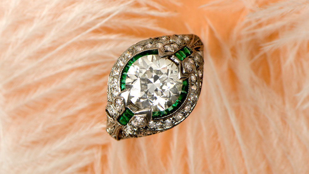 11315 Diamond Engagement Ring with Art