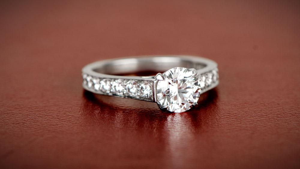 11345 Cartier Engagement Diamond Ring