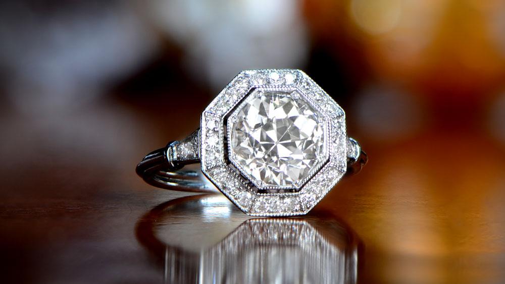 11405 Artistic Diamond Engagement Ring