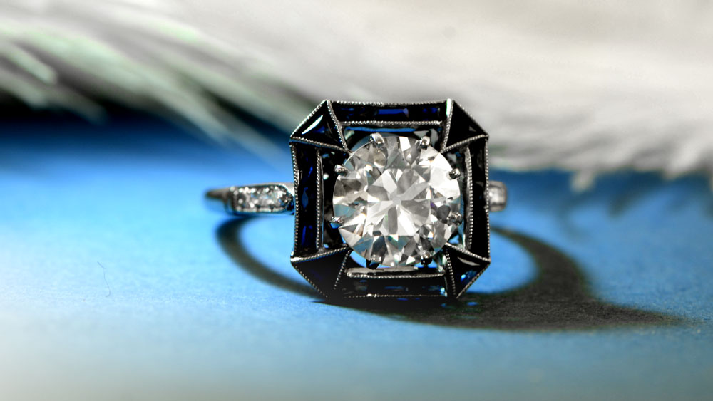 11621 Connecticut Sapphire Halo Ring