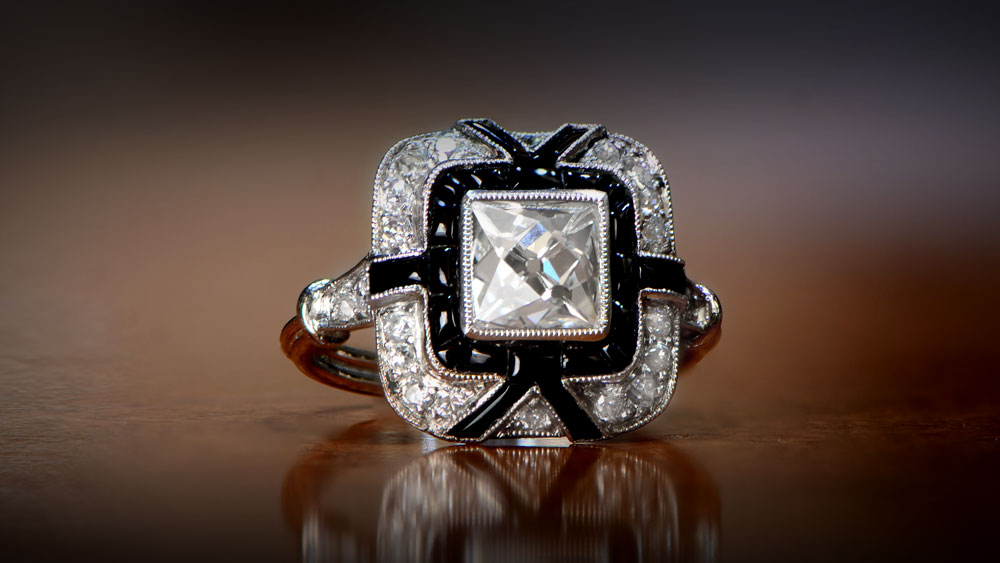 12203 Rose Cut Diamond Engagement Ring