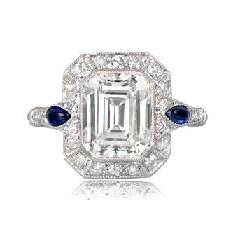 12350 TV Diamond and Sapphire Ring