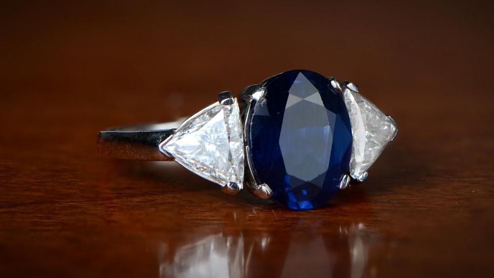 High Tone Sapphire Ring