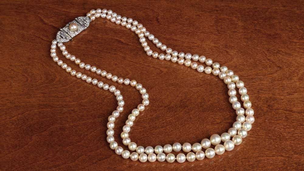 10978 Tiffany Natural Saltwater Pearl Necklace