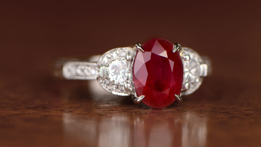 11600-Artistic-2 Ruby Engagement Ring 7800