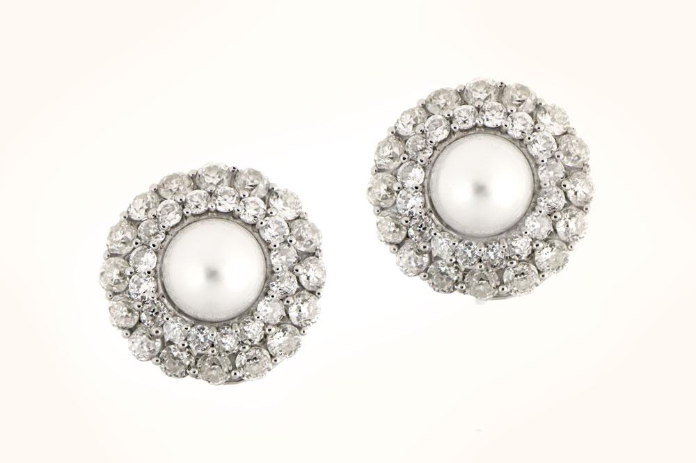 Antique Natural Drop Pearl Earrings SSEF