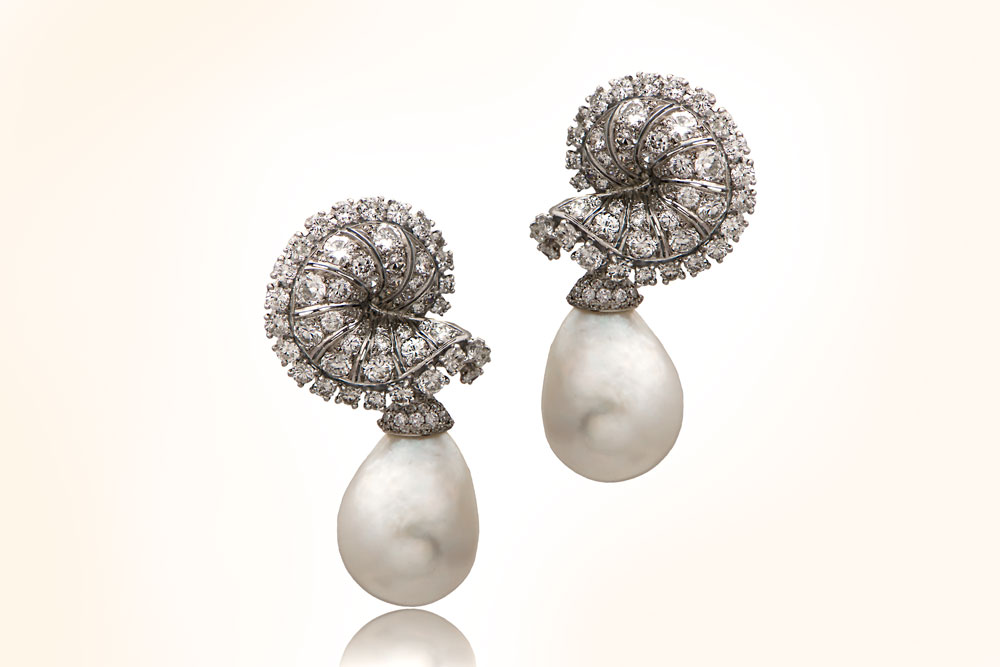 Antique SM275 Chaumet Natural Saltwater Pearl Earring