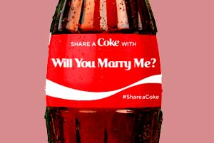 Custom Coke Bottle Engagement Proposal