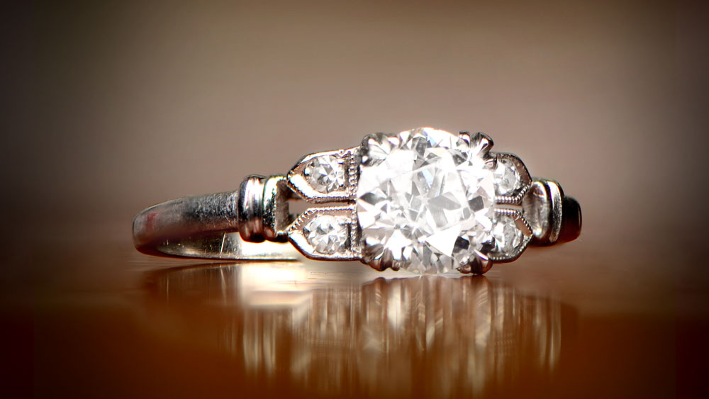 Engagement Ring with Diamond Accents 12349