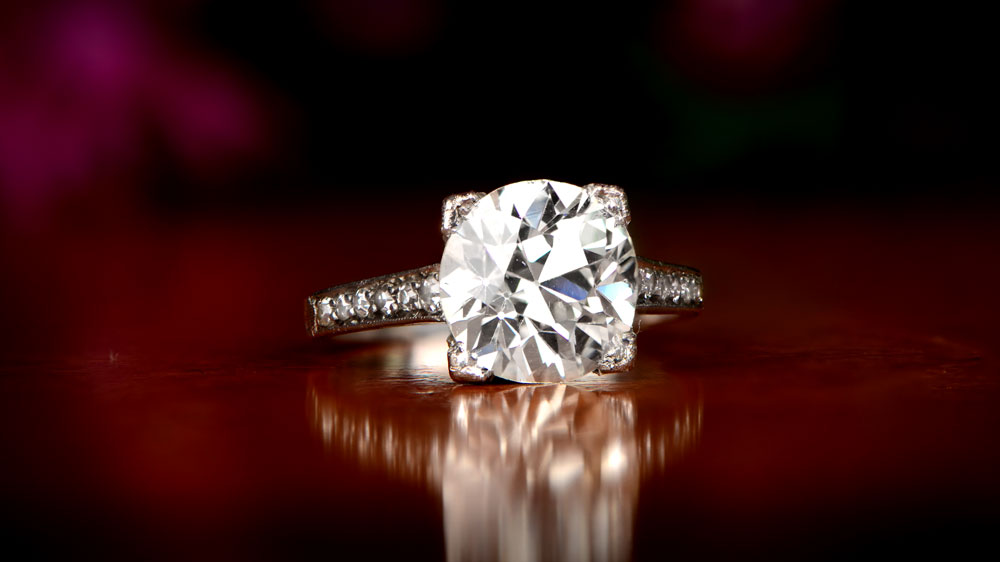 M Color Diamond Ring
