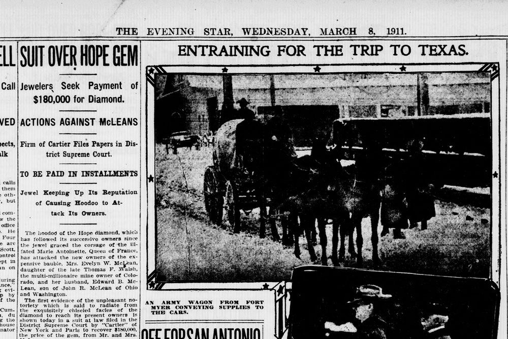 Cartier News Clipping in Evening Star 1911