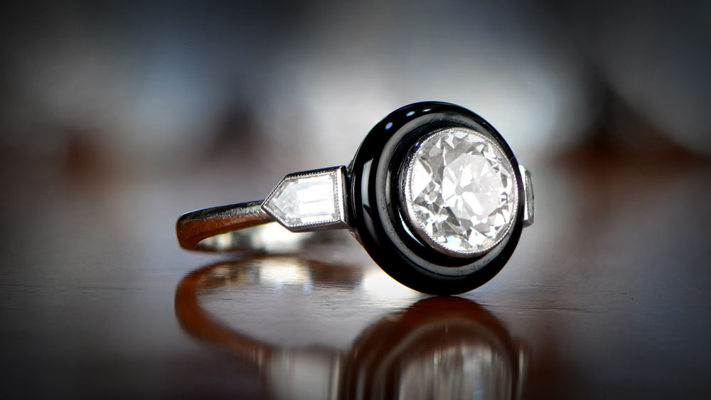 Onyx Engagement Ring from Online EDJ Website