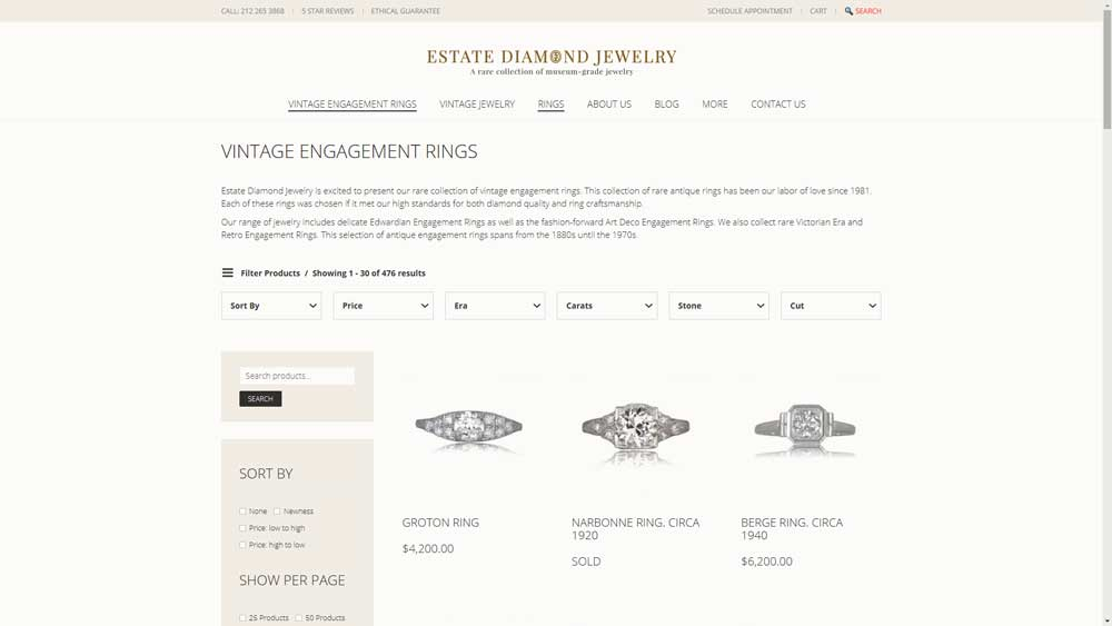 Shopping Online for Engagement Ring