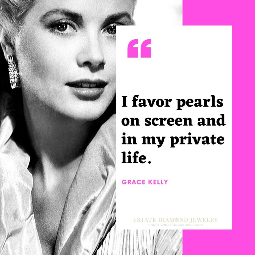 grace kelly pearls quote