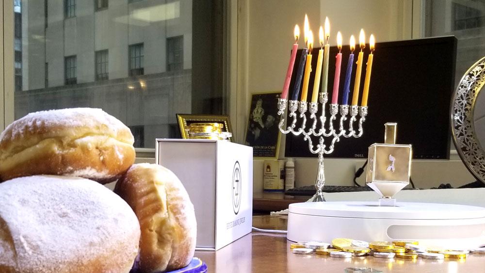 Hanukkah Party with Most Valuable Dreidel
