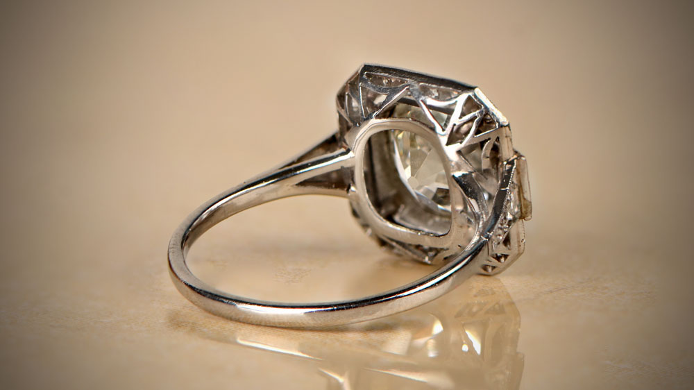 11866 Back View of Filigree Ring