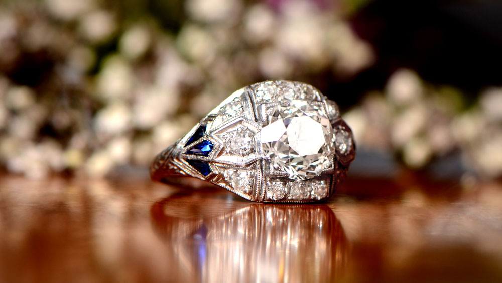 11960 Artistic Filigree Diamond Engagement Ring