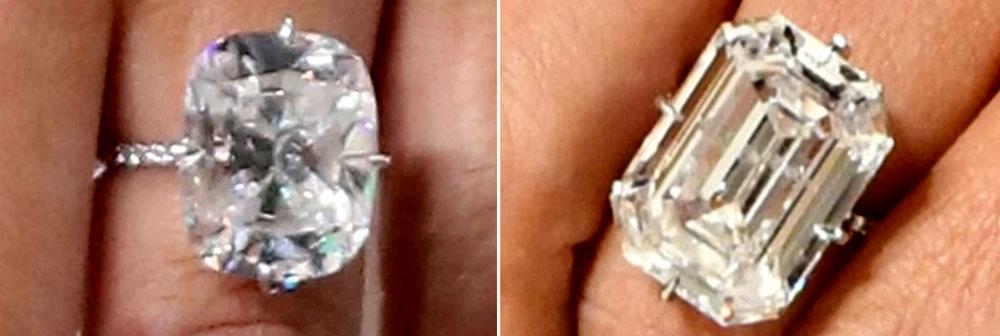 Kim Kardashian both engagement rings