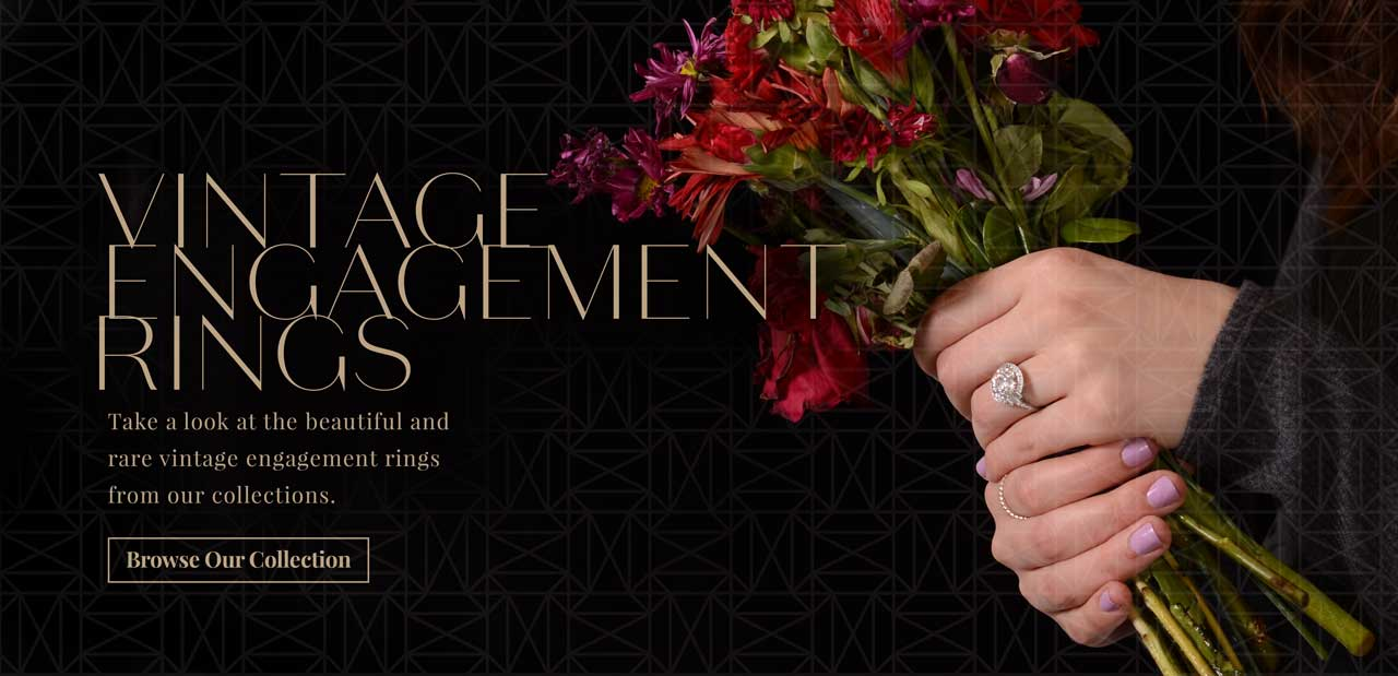 Estate Diamond Jewelry Vintage Engagement Rings Banner