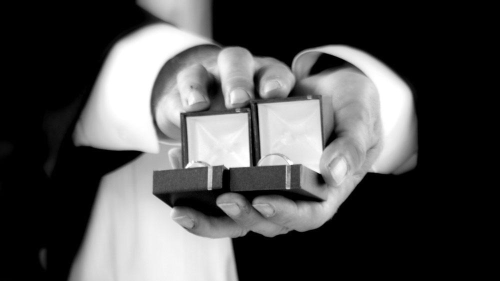 Men and Women Engagement Ring Set