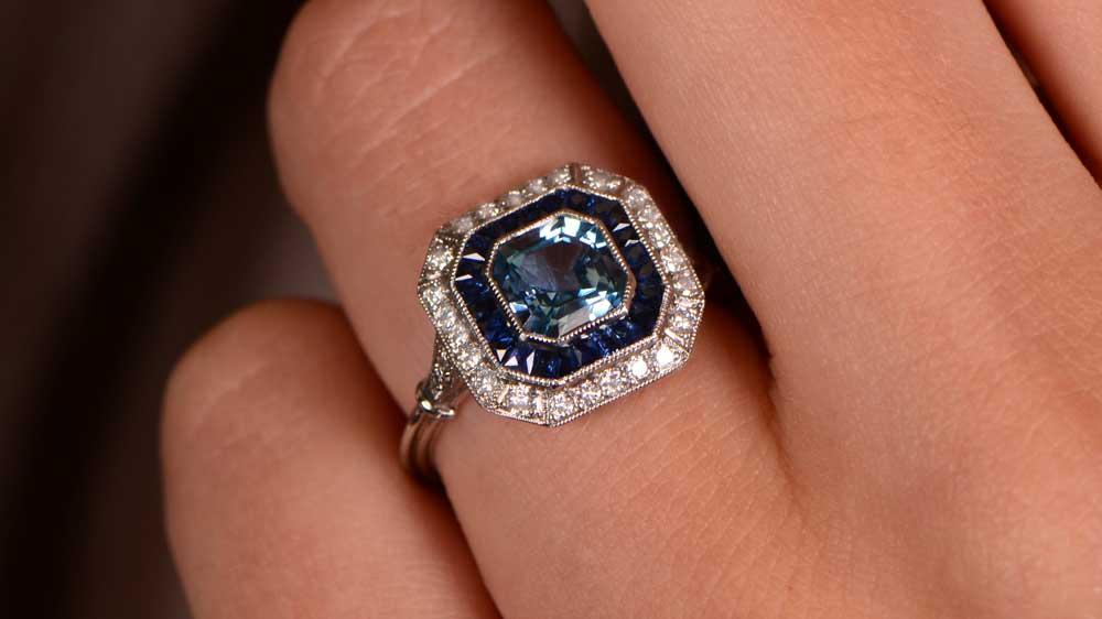 Milgrain on a Engagement Ring