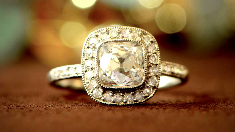 Old Mine Diamond-Engagement-Ring-M345-Artistic