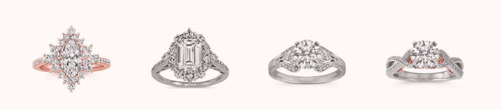 Examples of Fake Vintage Style Engagement Rings