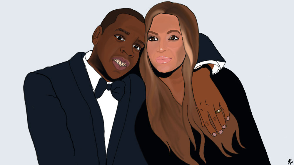 Beyoncé and Jay Z with Wedding Band