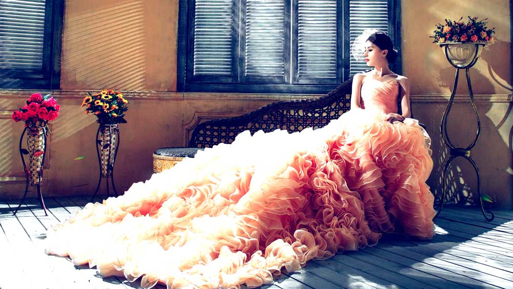 Bride in Wedding Dress in NYC