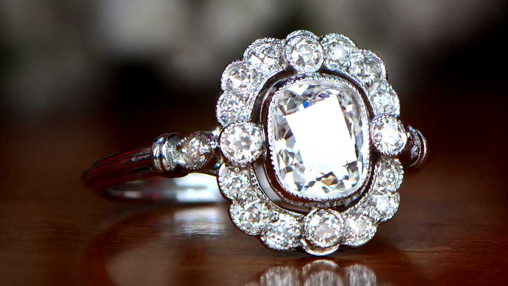 Vintage Engagement Ring from Estate Diamond Jewelry