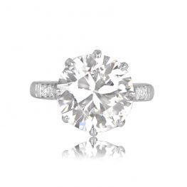 Garland Diamond Antique Ring Top View