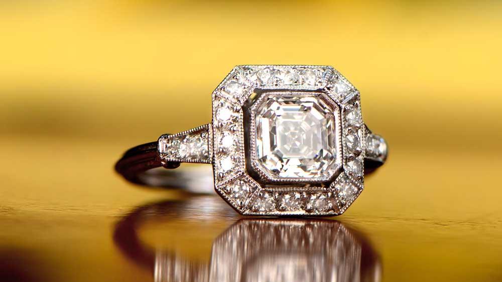 11914 Asscher Cut Diamond with VVS1 Clarity