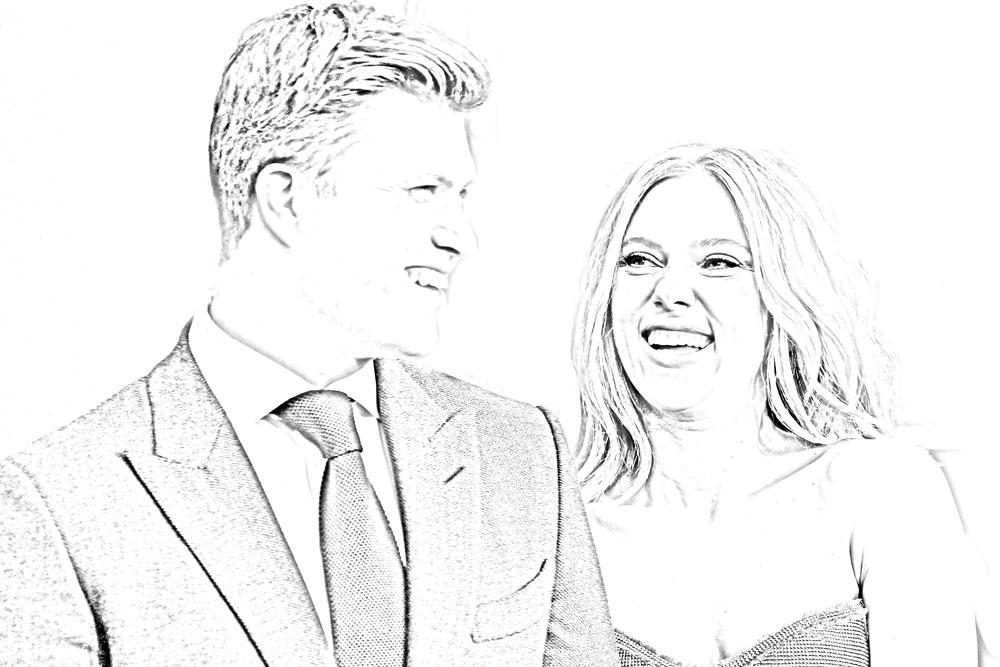 Colin Jost and Scarlett Johannson
