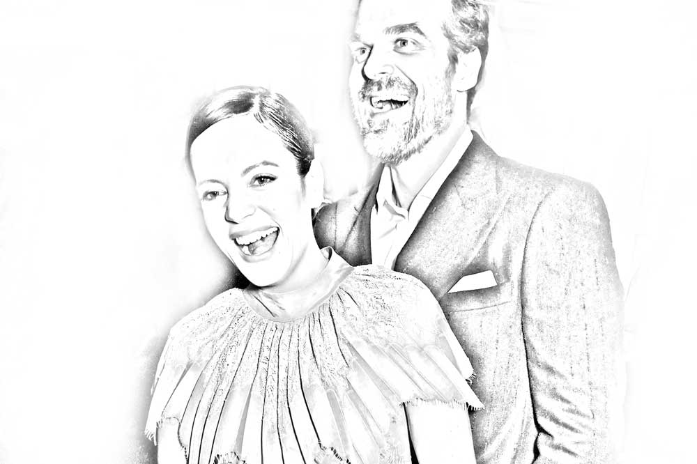 Lilly Allen and David Harbour