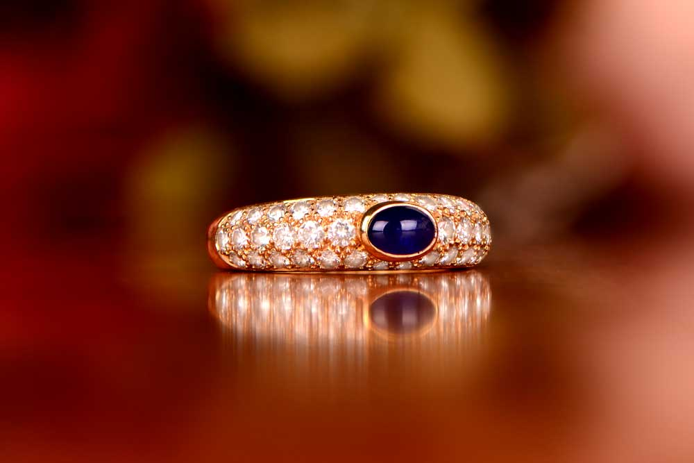 Cartier Sapphire Ring Gift for 10th Year