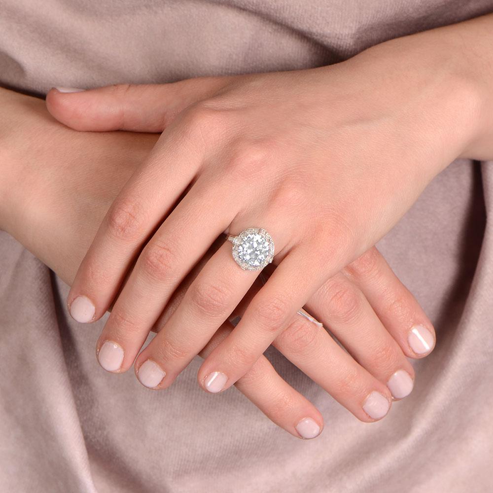 F1 12964 Lawrence Diamond Engagement Ring
